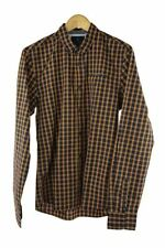 Scotch and soda blue yellow check long sleeve shirt size M RRP 90 P109