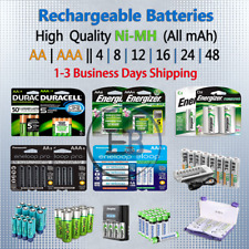 Rechargeable Batteries AA or AAA 4 8 10 12 16 Battery Charger NiMH lot Fast Ship