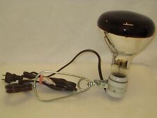 Vintage Portable Sun & Heat Lamp Working with ceramic base.