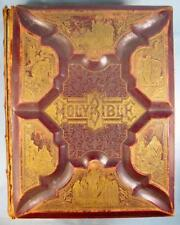 The Parallel Family Holy Bible Antique Book 1885 Mohn Yost Staley Co Photos (O)