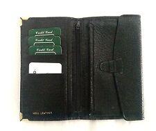 Vintage Mens Black Leather Wallet /Purse Unused Old Stock