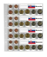 25 Look 1-7395-4-SLK Country Labels Flags Slovakia For coin sheets 1-7395-4