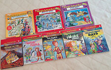 LOT OF 8 CHILDREN'S BOOKS Magic School Bus, Bats,Bones, Twister, Volcano,Chapter