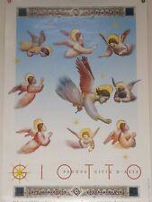 Padova Italy Giotto 1970's Vintage TOURISM TRAVEL poster  100 cm x 68 cm