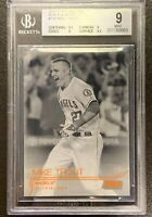 2015 Topps Stadium Club MIKE TROUT Orange Foil /17 Non-Auto BGS 9/9.5 Subs SSP