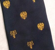 Vintage Tie MENS Necktie Crested Club Association Society EAGLE