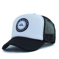 Quiksilver Foam Trucker Hat Mens Skateboard Baseball Cap Mesh Snapback Surf Wave