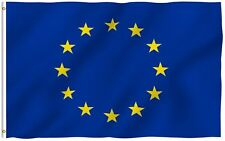 European Union Flag Polyester EU Flags Canvas Header Double Stitched 3x5ft
