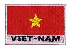 Patch écusson patche drapeau VIETNAM 70 x 45 mm Pays Monde coudre