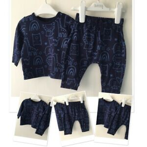 George Baby Boys Cute Navy Safari Theme Animals set outfit 0-3 months