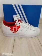 NUOVO Adidas Originale Da Uomo Superstar Bianco/Scarlet FY2828