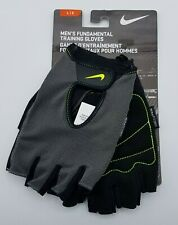 Nike Men's Fundamental Training Fitness Gloves Grey Black Volt Large NWT