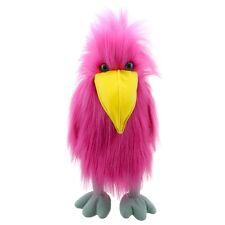 Handpuppe großer Vogel Papagei  pink ca. 40cm groß