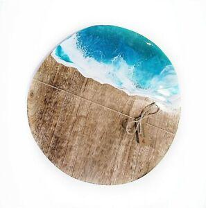 Hand Poured Ocean Resin Cheese board Serving resin ocean homeweres  cheeseboard