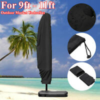 Black Outdoor Banana Umbrella Cover Garden Weatherproof Patio Cantilever Parasol