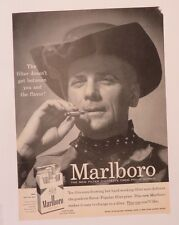 Original Print Ad 1955 MARLBORO Man Filter Doesn't Get in the Way