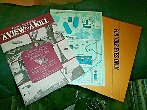 Victory GAMES James Bond 007  View to a Kill, NO DUST JACKET