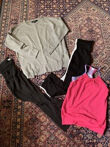 Girls Sports Bundle. Top, Sweatshirt, Leggings Age 11-15 Yrs Size 8