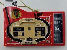 NHL Chicago Blackhawks SCORE BOARD Ornament, NEW