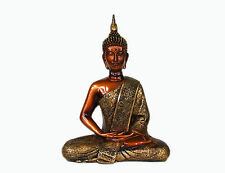 "Meditating Thai Buddha Statue Figurine 11"" Peace Serenity Buddhism Feng Shui"