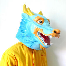 Chinese Dragon Head Period Costume Party Latex Mask for Halloween & Christmas