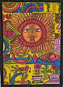 Indian Brush Textile Sun Moon Mandala Throw Wall HANGING HIPPY ETHNIC Tapestry