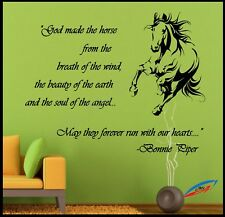 Wall Art Stickers Decors Animals Quotes Horse God Made A Horse... Z48