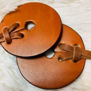 MEDIUM BROWN Horse/pony Western/English Leather Bit Guards
