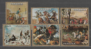 Panama - Mail 1968 Yvert 492/5 + A.452/3 Paints Of Hunting