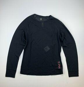 RAPHA Merino Mesh Base Layer Long Sleeve Black Size Large New