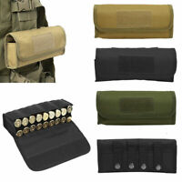 Tactical Molle Cartridge Holder Shotgun Shell Ammo Pouch Bags 18 Rounds 12/20GA
