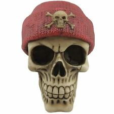 Red Beanie Teschio Ossa Incrociate Ornamento Figurina Gotico