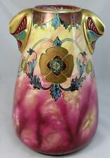 Royal Bonn Aesthetic Movement Floral Decorated Porcelain Vase circa 1900