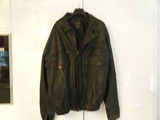 Mens Gents Stylish Classic Dress Jacket Soft Black Real Leather Casual XXL NEW
