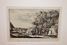 Claude Lorrain Flight into Egypt Jesus Biblical Etching French Art 17th Century!