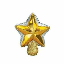 Old World Christmas Small Radiant Gold Star Blown Glass Tree Topper 4 Inch 50007