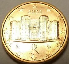 Pièces de 1 euro cent, année 2002