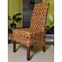 Victor Abaca Basket Weave Dining Chair with Mahogany Hardwood Frame - Salak B...