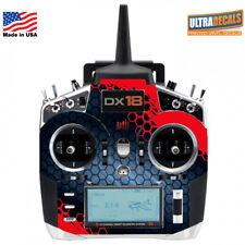 Spektrum DX18 Transmitter Skin Wrap Decal Red Controller Radio