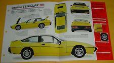 1982 Lotus Elite/Eclat Riviera 2174cc 4 Cyl 2 Dellorto Carbs Info/Specs/photo