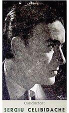 1955 CELIBIDACHE & CICCOLINI Concert PHOTO PROGRAM Schumann SHOSTRAKOVICH Piano