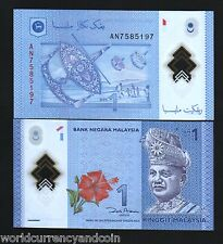 MALAYSIA $1 RINGGIT NEW 2012 *POLYMER* KING SOCCER FOOTBALL UNC WORLD CURRENCY