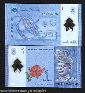 MALAYSIA 1 RINGGIT NEW 2012 or 2017 POLYMER KING SOCCER FOOTBALL UNC X 1 PC NOTE