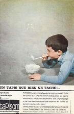 Publicité ancienne tapisTapisom 1963 issue de magazine