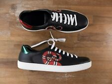 $790 GUCCI Ace black Kingsnake sneakers authentic - Size 11.5 US / 45 EU / 11 UK
