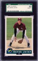 """1992 Classic #6 """" Derek Jeter""""  RC Rookie @@LOOK@@ SGC 8.5  {HOF 2020 99.7%} RC"""