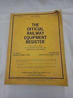 THE OFFICIAL RAILWAY EQUIPMENT REGISTER - October 10, 1976 VOL. 92, No. 2