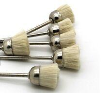 10x Wool Polishing Buffing Wheels Brush Burrs Shank 3mm For Rotary Tools Lab