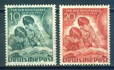 Berlin 80 - 81 , ** , * , o , - Tag der Briefmarke 1951