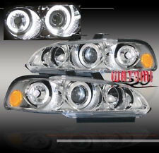 92-95 HONDA CIVIC 2/3DR HALO JDM PROJECTOR HEADLIGHT CLEAR 93 94 HATCHBACK COUPE